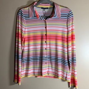 Tommy Hilfiger Striped Button Down Top NWT
